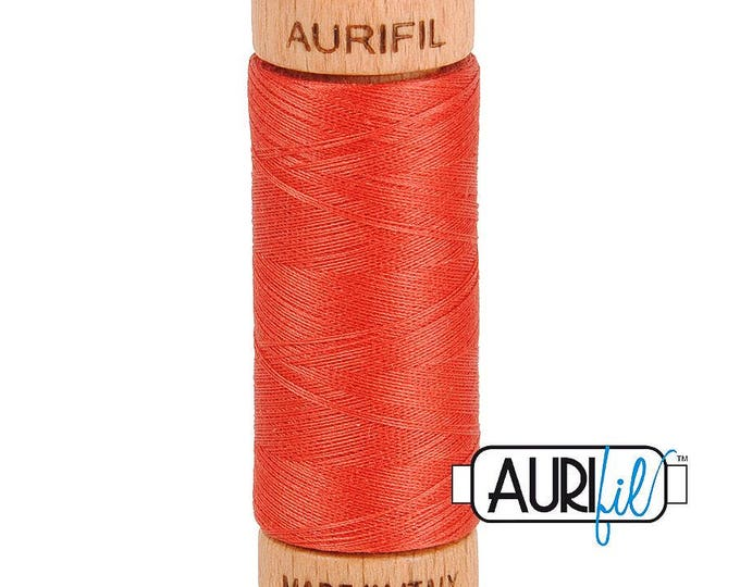 Aurifil 80wt -  Dark Red Orange 2255
