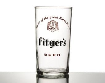 Fitger's Beer Tasting Glass. Fitger's Brewery Duluth, MN. Vintage Glassware Barware Sampling