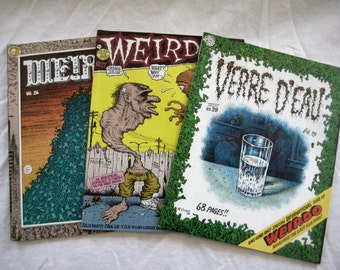 Weirdo Underground Comics, #26-#28, You choose, Adult content, Over age 18, Vintage 1980's, Robert Crumb
