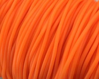 X 2 metre rubber buna cord 2mm orange ❤ ❤