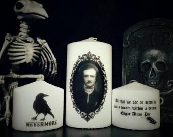 Edgar Allan Poe Candle Set Trio