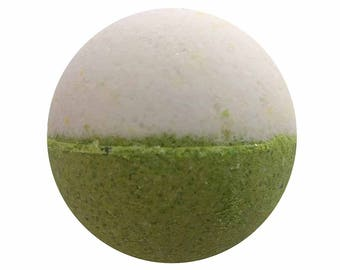 Fresh Linen Bath Bomb, Bath Fizzy, Handmade Spa Product, Epsom Salts, Hydrating Coconut Oil, Sensitive Skin, Great Gift for Her