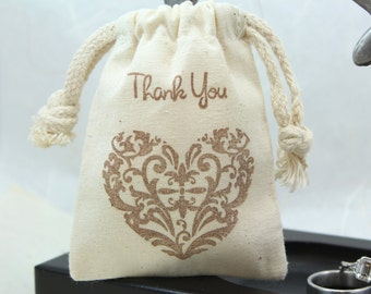 Thank you Favor Bags - (3x4 or 4x6) Set of 10 - Weddings, Showers, Favors