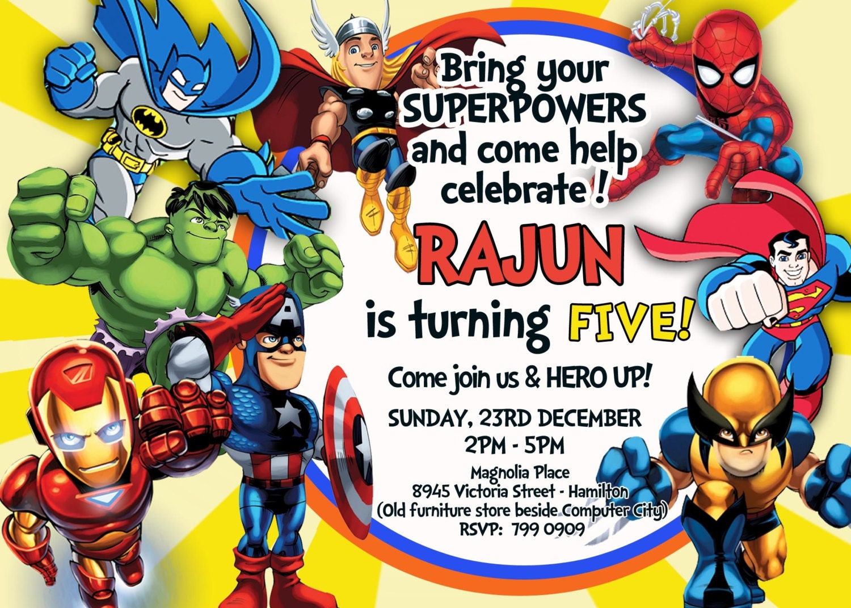 superhero birthday invites - Ideal.vistalist.co