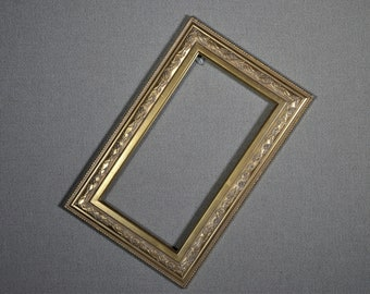 7x13 Frame Ornate Gold Wood with Optional Glass and Custom Cut Matting