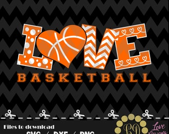 LOVE Basketball svg,png,dxf,cricut,silhouette,jersey,shirt,proud,birthday,invitation,sports,cut,girl,new,decal,college,University,ncaa,heart