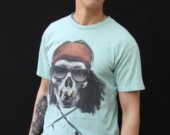 Vintage Pirate Print T-shirt