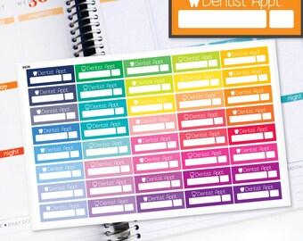 Planner Stickers Erin Condren Life Planner (Eclp) - 40 Dentit Appointment Health stickers (#6029)