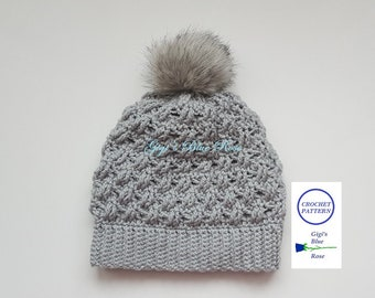 CROCHET PATTERN/Woman's Cable Winter Hat Pattern/PDF Pattern Only