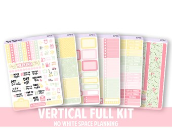 1079-FK // VERTICAL 6 Piece Full Kit - No White Space Planning // New Life Collection // Planner Stickers