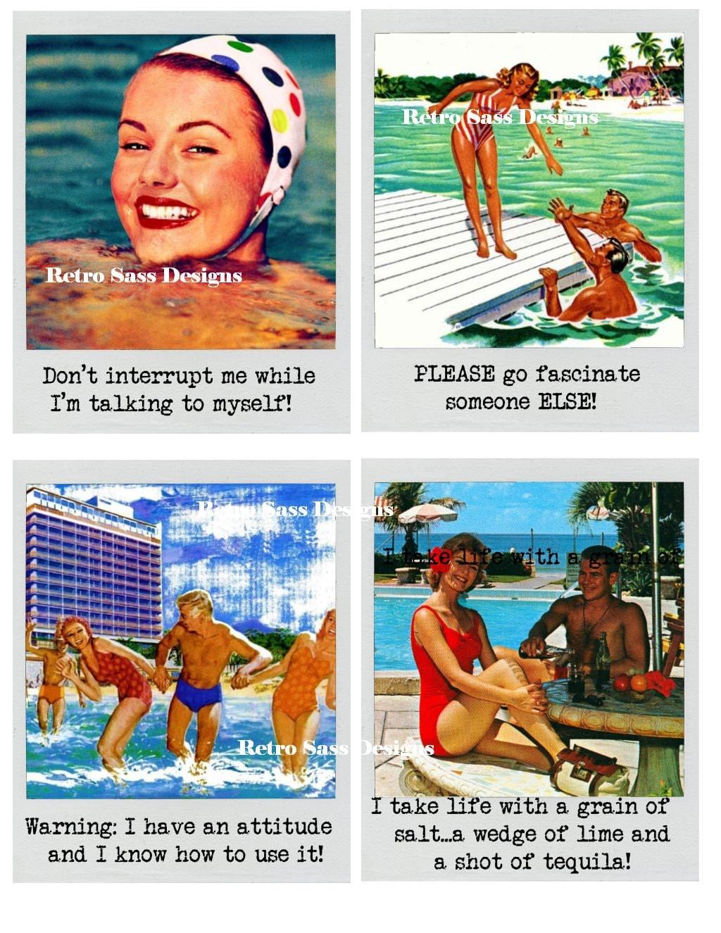 Retro-Roadtrip inspirieren Polaroid Rahmen Postkarte oder