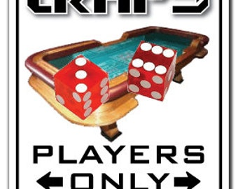 Craps Player ~Novelty Sign~ Parking Dice Gambler Gift
