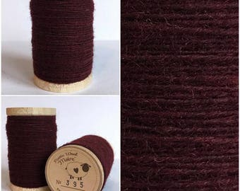 Rustic Moire Wool Thread #395 for Embroidery, Wool Applique and Punch Needle Embroidery