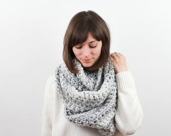 Giant Chunky Knit Infinity Scarf Wool Blend | THE ANCHORAGE in Avalanche
