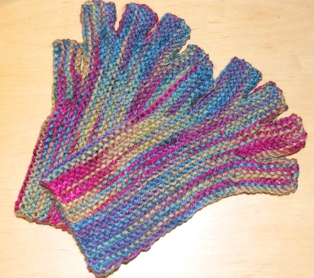 Fingerless gloves, knitting pattern, PDF download, worsted yarn ...