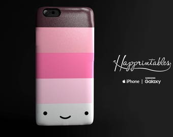 Happy Stripes Pink & Brown Case iPhone 7 - iPhone SE - iPhone Plus - iPhone 6/6S - iPhone 5/5S - iPhone 5C - Samsung Galaxy S5 - S6 Edge
