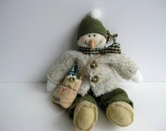 After Christmas Sale ~~ Rustic Snowman Christmas Decoration