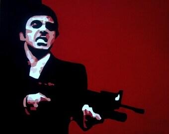 Scarface Film Original Painting