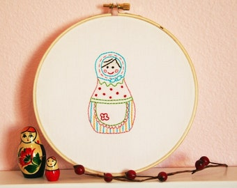 Apron Russian Sweetie Embroidery PATTERN