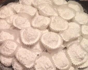 Kourabiedes - Greek Homemade Butter Cookies with Almond - Christmas Cookies - Wedding Cookies - Christmas Gift - One Dozen (12 items)