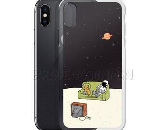 Platz iPhone 7 Fall Gameboy iPhone Fall Astronaut klar Gummi iPhone Fall mutig Moonman Gameboy Handytasche iPhone 7 Plus Gehäuse Platz Kitty