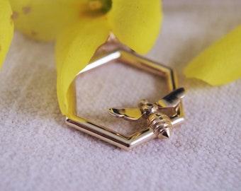 Hexagon beehive necklace