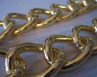 Gold Curb Chain Chunky Gold Chain Extra Chunky Gold Chain1 Foot of Large Chunky Gold Iron Fashion Curb Chain 30mm by 23mm by 5mm by BySupply
