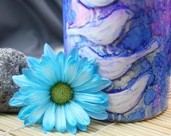 Alcohol Ink Bird Vase