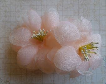 Pink set of 2 artificial flowers