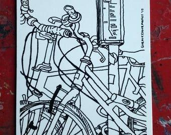 Postcard: Bikes on 9th street