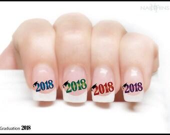 CLASS OF 2018 Graduation Nail Decals Nail Art  Nail Design NAILTHINS