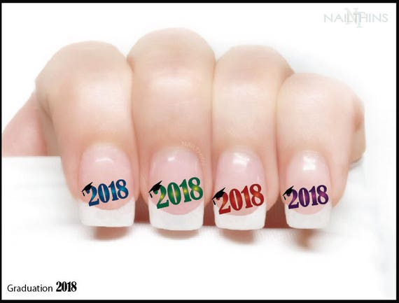 CLASS OF 2018 Graduation Nail Decals Nail Art Nail Design