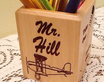 Pen & Pencil Holder-Personalize/Engrave/Customize-Father's Day, Office Gift, Graduation, Commencement, Christmas, Office Set, Office Tools
