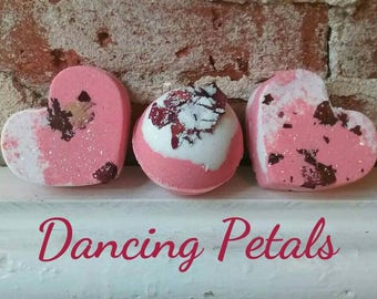 Rose *Dancing Petals* Jasmine Bath Bomb- Flower Bath Fizzy, LUSH like Bombs
