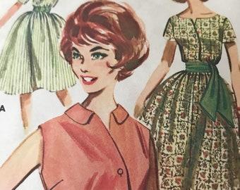 Vintage Shirtwaist Dress Pattern---Butterick 9754---Size 16  Bust 36  UNCUT