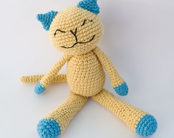PDF Crochet Pattern - Cute Cotton Kitty