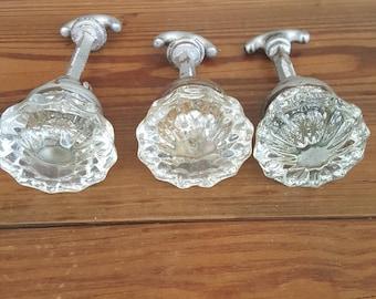 Beautiful, vintage glass closet door knobs