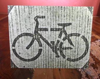 Bike Path Sign Note Card