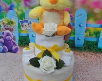 2 Tier Easter Springtime Nappy Cake