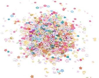 Very Tiny Confetti, Confetti Glitter, Nail Art, Colorful Confetti, Tiny Confetti, Confetti Stars,  Table Confetti, Envelope Confetti