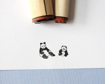 Pandas Rubber Stamp Set
