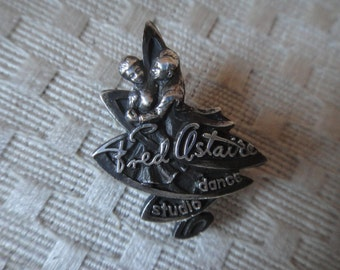 Fred astaire school of dance award pin sterling silver