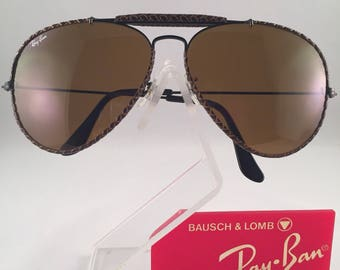 Vintage Ray Ban Bausch And Lomb Braided Leathers Driving B15 Sunglasses 62mm