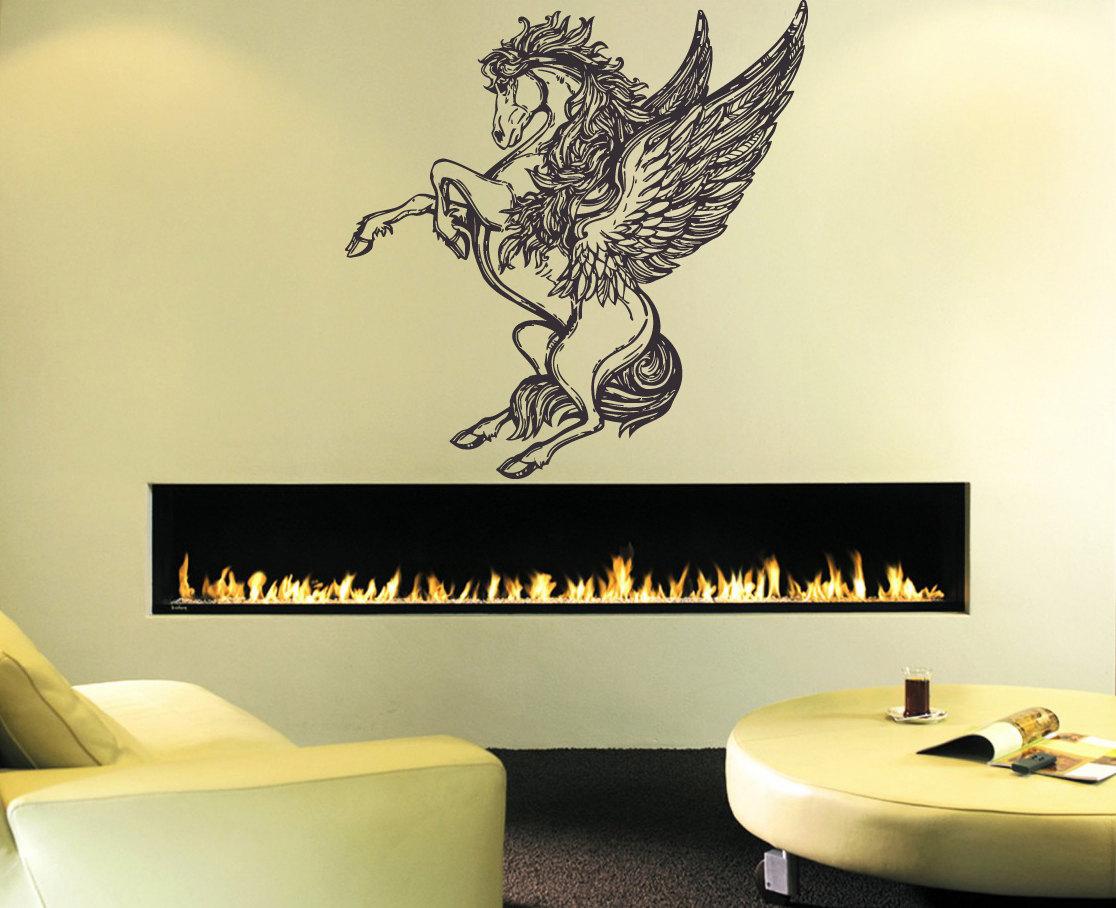Wall Decal Sticker Bedroom Unicorn Magic Horse Dream Cartoon