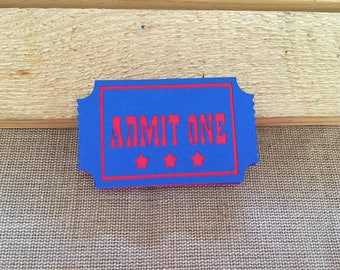 Set of 12 Admit One Ticket, Carnival Tickets, Carnival party, Carnival Birthday, Admit One Tickets