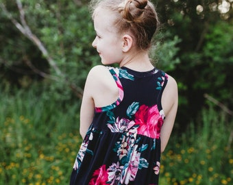 Maxi dress, Toddler dress, Summer dresses, Racerback dress, Girl dress, Teen dress, Boho dress.