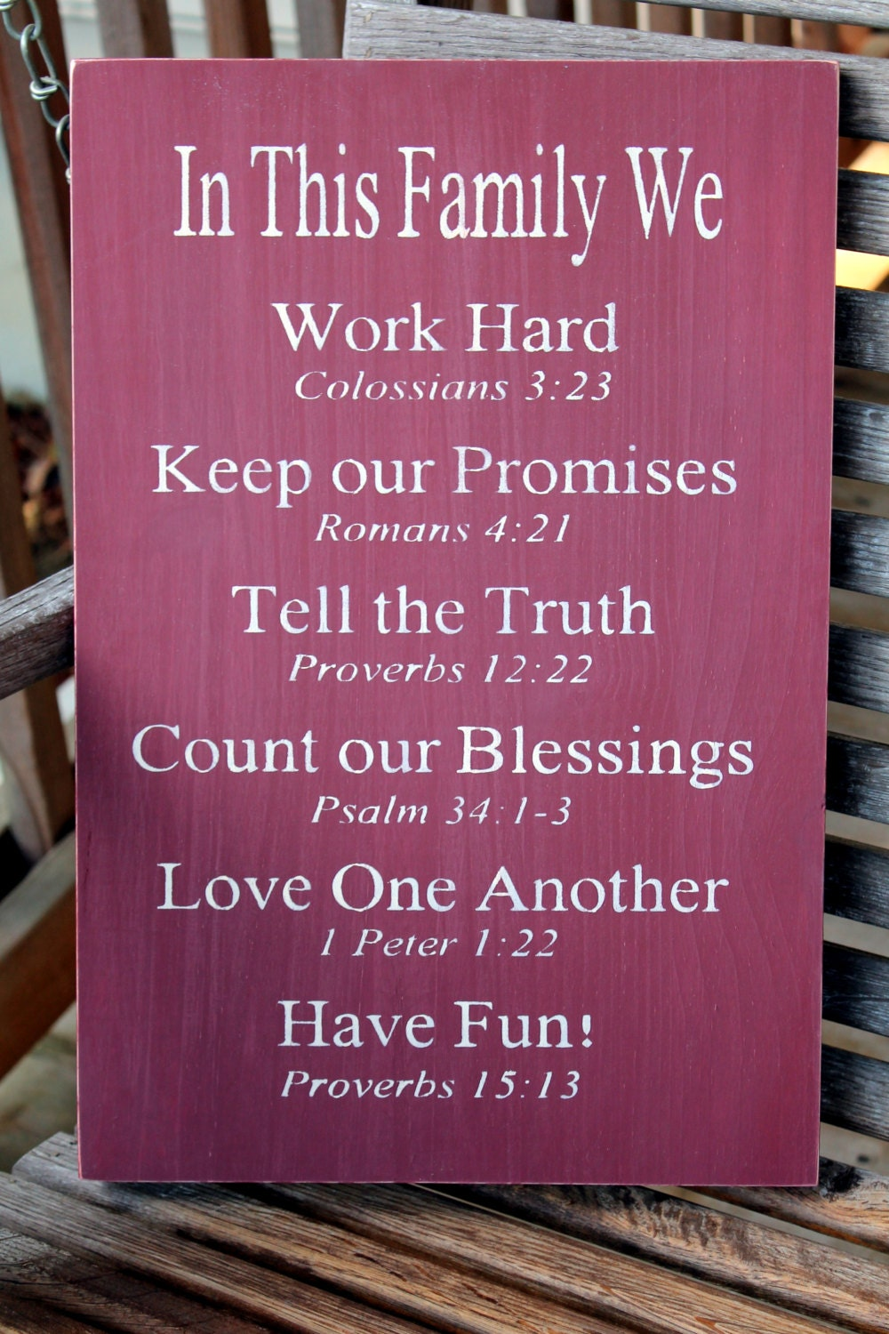 Bible Quotes About Mothers Christian Family Rules Sign Bible Verses Housewarming Gift
