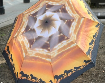 Horsing around. Art umbrella with free delivery !