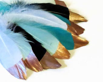 Real Feathers, Fold Dipped Wedding Decirstioms and Supplies, Cruelty Free Feathers