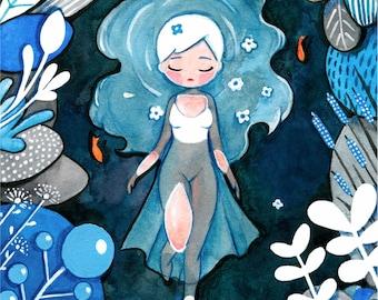 Ophelia - Lady of the Lake Print